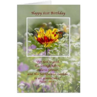 宗教誕生日、第61、チューリップおよび蝶 カード