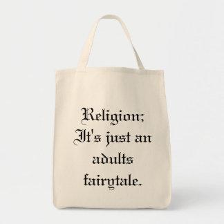 宗教;  それはちょうど大人のおとぎ話です トートバッグ