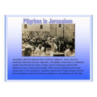 宗教、エルサレムの巡礼者 ポストカード