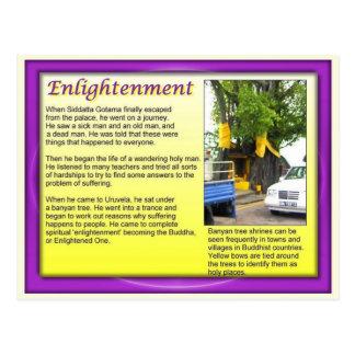 宗教、仏教、啓発された1 ポストカード