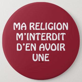 宗教 15.2CM 丸型バッジ