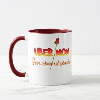 定義マグを持つUberのお母さん マグカップ