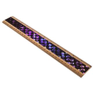 定規紫色の水晶きらきら光るなStrass メープル 定規