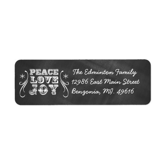 宛名ラベルの平和愛喜びの黒板の休日 ラベル