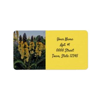宛名ラベル-黄色いカシア桂皮 ラベル