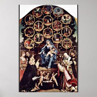 宝くじロレンツォ(最も最高のなQualiによる数珠のマドンナ ポスター