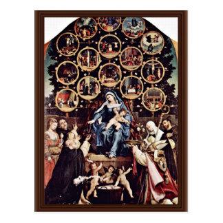 宝くじロレンツォ(最も最高のなQualiによる数珠のマドンナ ポストカード