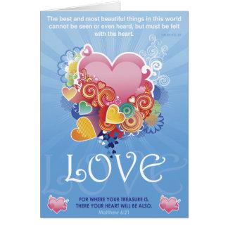 宝物ハート カード