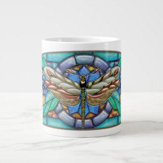 宝石で飾られたトンボの完全さ、ジャンボマグ ジャンボコーヒーマグカップ