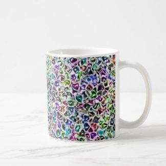 宝石で飾られたモザイク コーヒーマグカップ