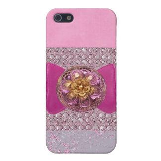 宝石で飾られた及びラインストーンののどIの電話場合 iPhone SE/5/5sケース