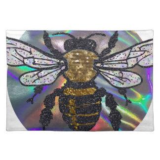 宝石で飾られた蜂 ランチョンマット