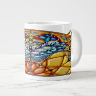 宝石で飾られた、ジャンボマグ ジャンボコーヒーマグカップ