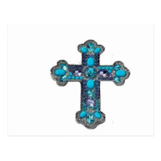 宝石で飾られる十字 ポストカード