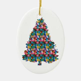 宝石によって散りばめられるクリスマスの木:  メリークリスマス セラミックオーナメント