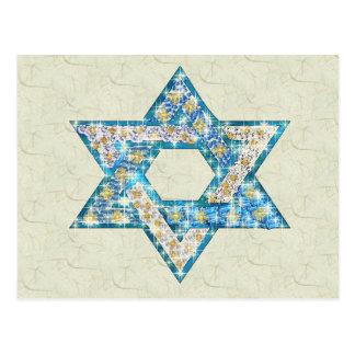 宝石によって飾られるダビデの星 ポストカード