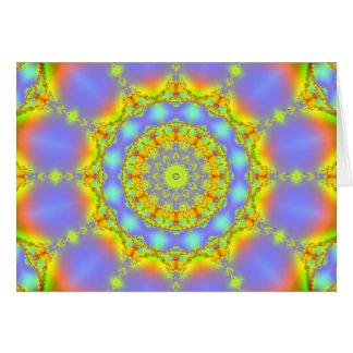 宝石のフラクタルの万華鏡のように千変万化するパターン カード
