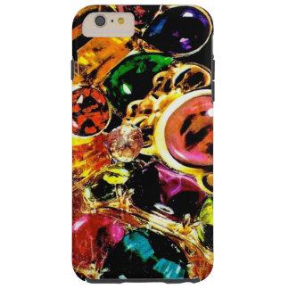 宝石の宝石用原石のきらきら光るなコラージュ TOUGH iPhone 6 PLUS ケース