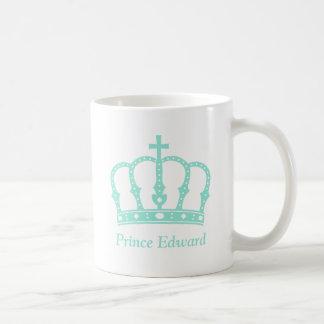 宝石を持つCrown青い王子 コーヒーマグカップ