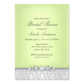 宝石及び真珠のブライダルシャワーの招待状 カード
