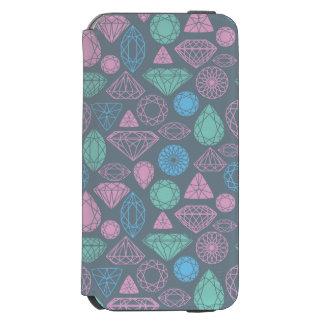 宝石用原石アイコンパターン INCIPIO WATSON™ iPhone 5 財布型ケース