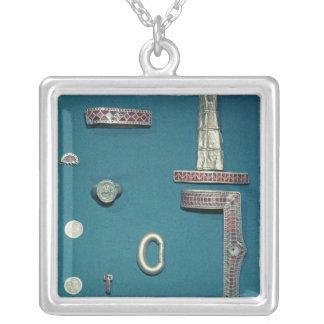 宝石類の選択 シルバープレートネックレス