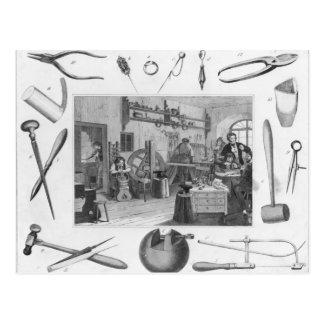 宝石類1810年の研修会そして主要な用具 ポストカード