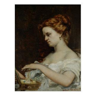 宝石類1867年を持つ女性 ポストカード