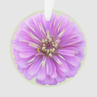 宝石類-ペンダント-薄紫の《植物》百日草 オーナメント