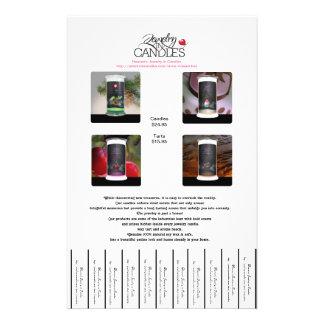 宝石類 蝋燭 フライヤ パーソナライズチラシ広告