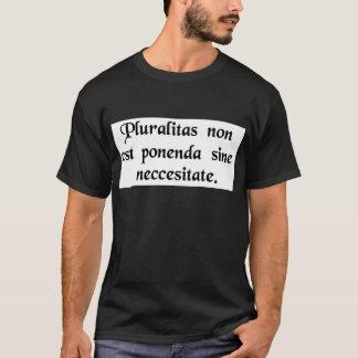 実体は不必要に増加するべきではないです Tシャツ