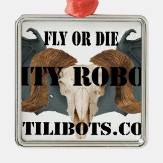 実用的なロボット工学のロゴプロダクト メタルオーナメント