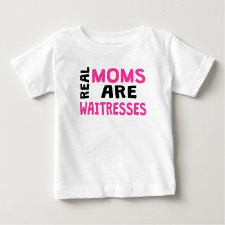 実質のお母さんはウェートレスです ベビーTシャツ