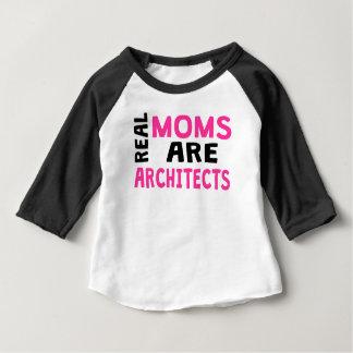 実質のお母さんは建築家です ベビーTシャツ