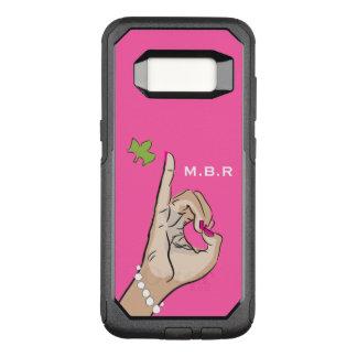実質のかわいらしいピンクおよび緑愛 オッターボックスコミューターSamsung GALAXY S8 ケース