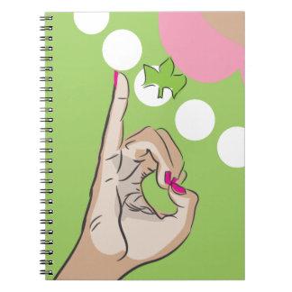 実質のかわいらしい女の子 ノートブック