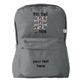 実質のつま先および目が付いているハロウィンTicの鋲つま先 American Apparel™バックパック