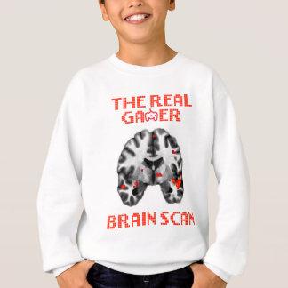実質のゲーマーの頭脳スキャンTシャツ スウェットシャツ