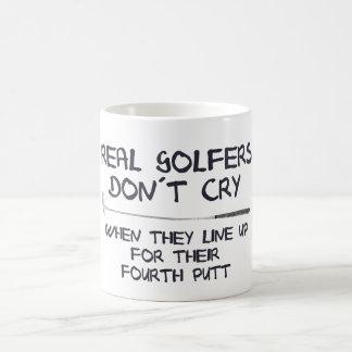 実質のゴルファーのdon´tの叫び コーヒーマグカップ