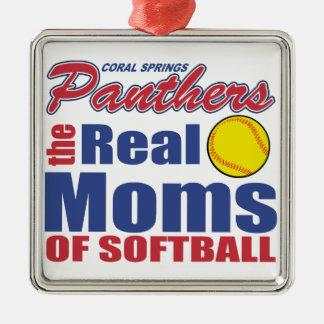 実質のソフトボールのお母さん メタルオーナメント