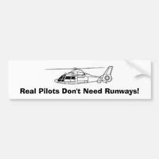 実質のパイロットは走路を必要としません! バンパーステッカー