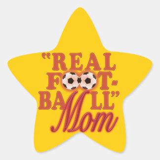実質のフットボールのお母さん(日没) 星シール