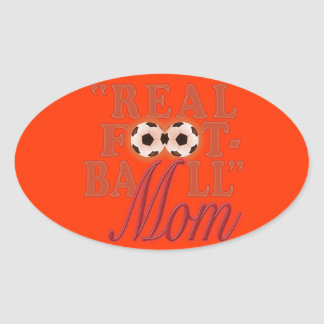実質のフットボールのお母さん(日没) 楕円形シール