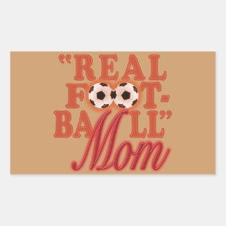 実質のフットボールのお母さん(日没) 長方形シール