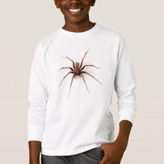実質のブラウンの家のくも Tシャツ