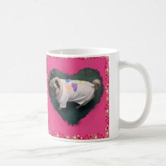 実質のメンズウェアのハート コーヒーマグカップ