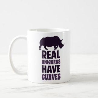 実質のユニコーンにカーブがあります コーヒーマグカップ