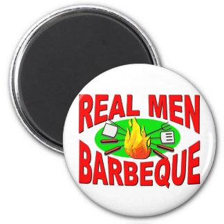 実質の人のバーベキュー。 BBQ王のためのおもしろいなデザイン マグネット