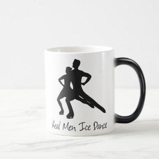 実質の人の氷のダンスのない演劇のアイスホッケー用スティック マジックマグカップ