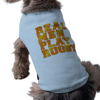 実質の人の演劇のラグビー ペット服